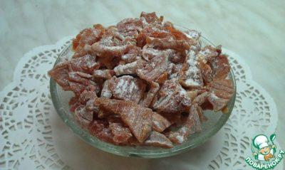 как сделать цукаты из тыквы в духовке
