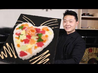 как сделать суши торт
