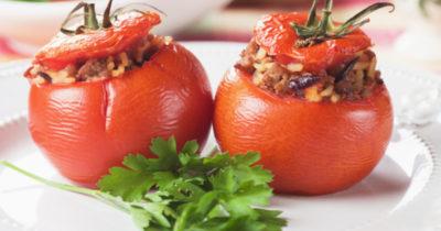 как запечь помидоры в духовке