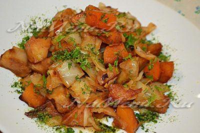 как приготовить овощное рагу с капустой