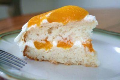 как украсить торт персиками