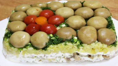 как приготовить шампиньоны для салата