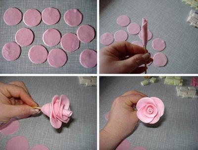 как сделать розы из мастики