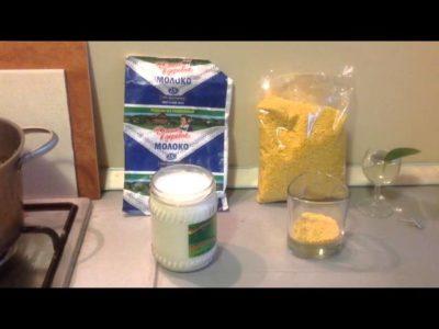 как приготовить пшенную кашу на молоке