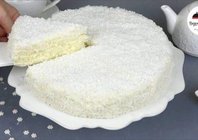 как украсить торт кокосовой стружкой