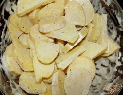 как замариновать картошку для духовки