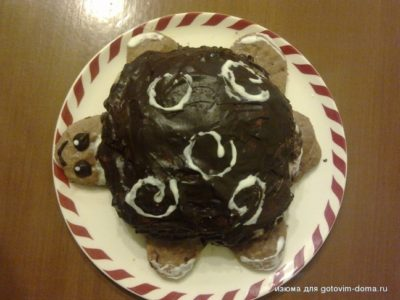 как испечь торт черепаха