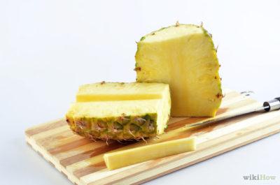 как правильно резать ананас