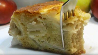 яблочный пирог который во рту тает шарлотка