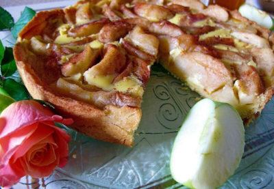 яблочный пирог который во рту на сметане