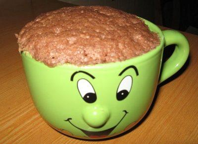 как сделать кекс в кружке без молока