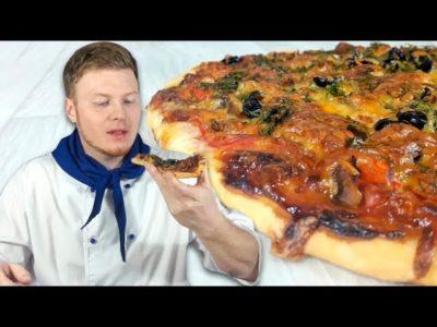 как приготовить пиццу без духовки