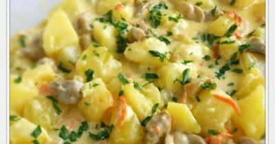 как приготовить картошку со сметаной в духовке