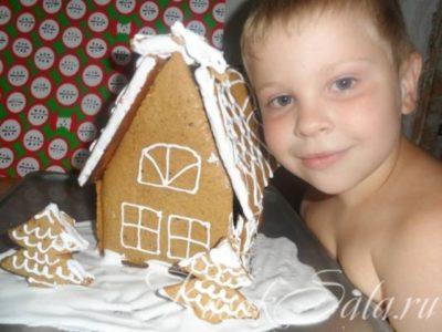 как сделать домик из печенья