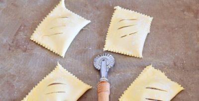 как завернуть слоеное тесто с вареньем