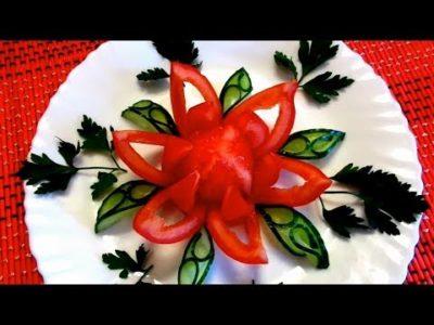 как сделать розочку из помидора