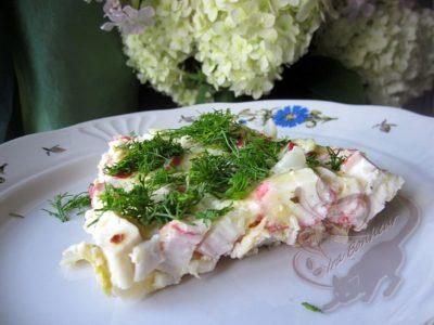 как приготовить крабовый салат с капустой