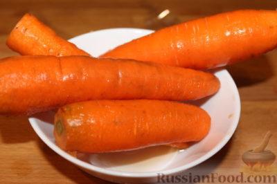как запечь морковь в микроволновке