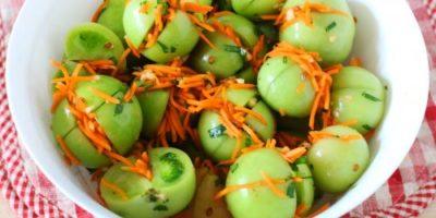 как заквасить зеленые помидоры