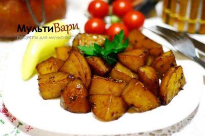 как запечь картошку в мультиварке