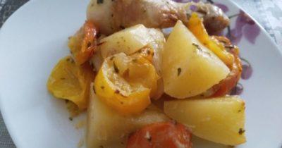 как приготовить голень с картошкой в духовке