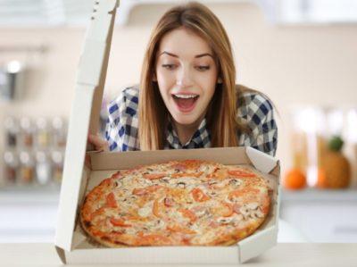 на сколько ставить пиццу в духовку