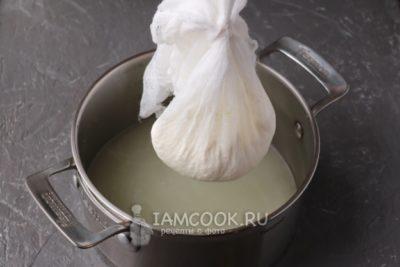 как сделать творог из кислого молока