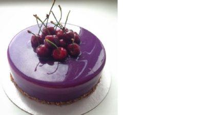 как сделать цветные подтеки на торте