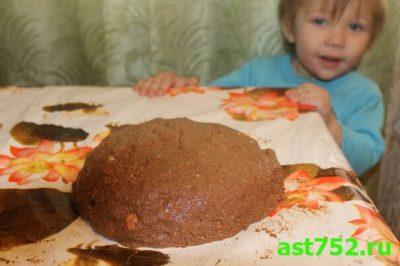 как сделать колбаску из печенья и какао