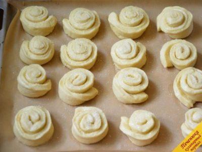 как сделать булочки розочки