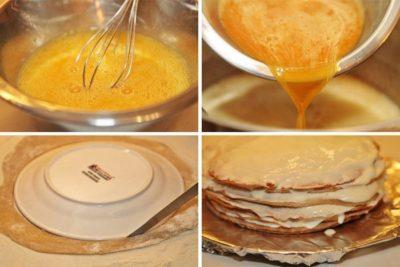 как сделать медовые коржи
