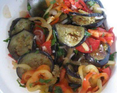 как запечь овощи для салата