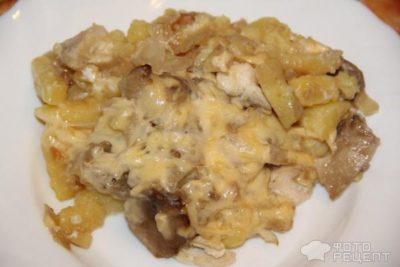 как приготовить шампиньоны в духовке с картошкой