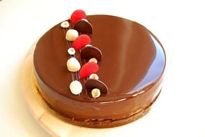 как украсить торт три шоколада