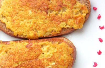 как сделать яичницу в хлебе