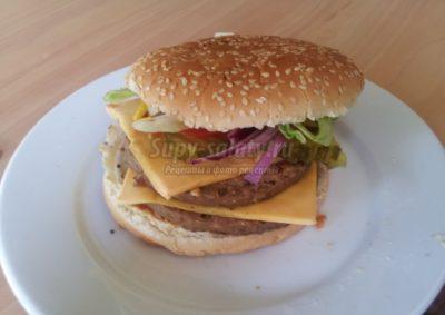 как делать гамбургер в домашних
