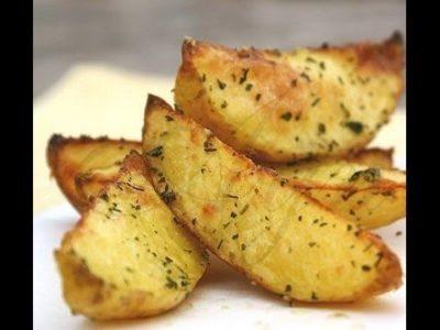 как сделать золотистую картошку в духовке