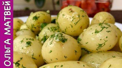 как запечь вареную картошку в духовке